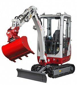 Miniretro excavadora marca Takeuchi modelo TB216