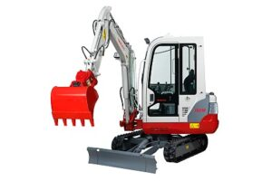 Miniretro excavadora marca Takeuchi modelo TB219