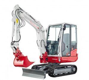 Miniretro excavadora marca Takeuchi modelo TB230