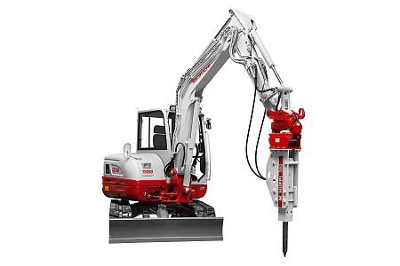 Miniretro excavadora marca Takeuchi modelo TB260