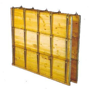 Encofrado de madera para muro talleres arteixo - Muro de madera ...